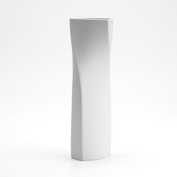 Designer Porzellan Vase Weiß Spriral