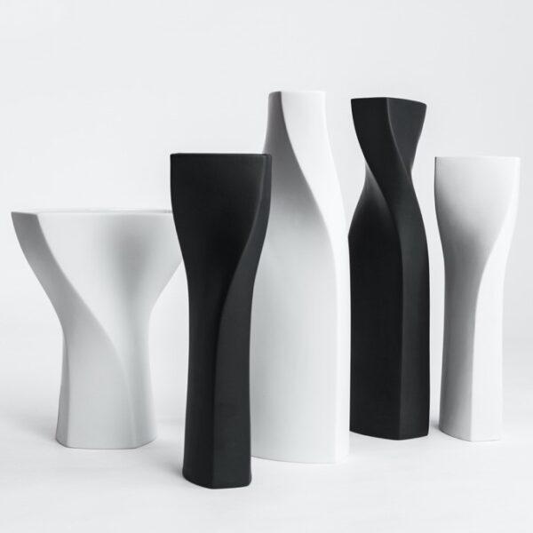 Porzellanvasen Spiral Doerfel Design